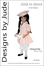 "Ship to Shore Doll Clothes Sewing Pattern for 12"" Senson Dolls"