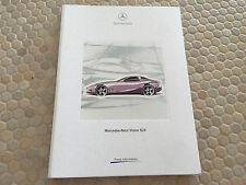 MERCEDES BENZ VISION SLR GRAN TURISMO CONCEPT WORLD PREMIER PRESS KIT 1999