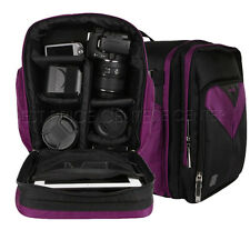 VanGoddy Waterproof DSLR Camera Backpack Bag Case For Canon Nikon Sony Purple