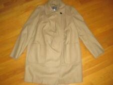 Ladies J. Crew Camel Tan Wool Cashmere Nello Gori Winter Coat Size 10
