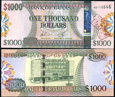 GUYANA 1000 1,000 DOLLARS ND 2011 P 39 NEW SECURITY UNC