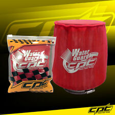 Water Guard Cold Air Intake Pre-Filter Cone Filter Cover for Mustang Medium Red