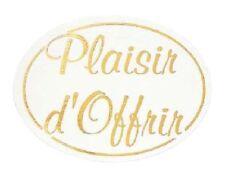 12 Etiquettes autocollantes stickers cadeaux PLAISIR D'OFFRIR Doré - Ref TSB9