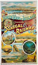Vintage Rail travel poster  A4 RE PRINT The Donegal Railway