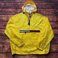 VTG Tommy Hilfiger Mens 2XL Windbreaker Jacket Yellow Flag Spell Out Rare