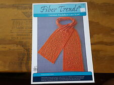 RARE KNITTING PATTERN: ESTONIAN MEDALLION LACE SCARF BY FIBER TRENDS