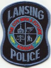 LANSING KANSAS KS The City With A Future POLICE PATCH