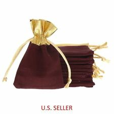 25 Purplish Red Velvet Drawstring Pouches Jewelry Wedding Party Gift Bag 7x9cm