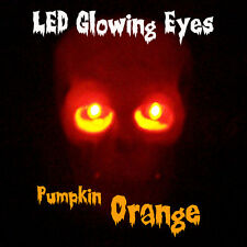 LARGE 10mm LED GLOWING EYES HALLOWEEN ORANGE 9 VOLT 12 inch wires