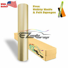 "*60""x540"" Matte Satin Chrome Champagne Gold Sticker Decal Vinyl Wrap Air Release"