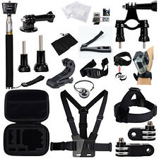 26-in-1 Head Chest Mount Floating Monopod Strap Accessories Sets for GoPro 2 3 4