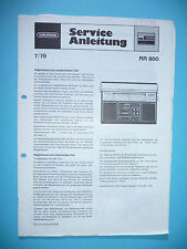 Service Manual Grundig RR 800 Radio Recorder,ORIGINAL