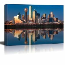 """Canvas Prints - Dallas Skyline Reflected in Trinity River at Sunset - 24"""" x 36"""""""