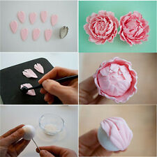 4X Peony Flower Cake Fondant Plunger Cutter Decorating Mold Sugarcraft Baking FG
