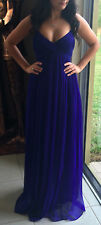 MANGO Size2 Empire Waist Blue Foot Length Dress!!