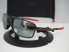 OAKLEY POLARIZED FERRARI BADMAN OO6020-07 Dark Carbon / Black Iridium Polarized