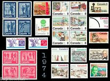 SUPERFLEAS Canada 1974 Complete Year Set of postage stamps MNH