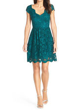 Betsey Johnson New Scalloped Lace Fit & Flare Dress Size 12 MSRP $158 #DN 1035