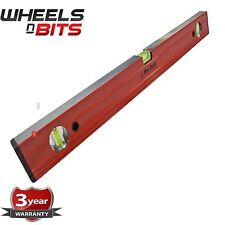 "24"" BUILDER ENGINEER SPIRIT LEVEL RIBBED ALUMINIUM RULER TWO MILLED FACES 600MM"