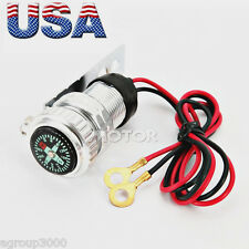 12V Silver USB Charger Fit Suzuki Intruder Volusia VS VL 700 750 800 1400 1500