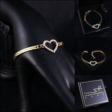 Armschmuck, Armband *Herz* Bracelet, Gelbgold pl., Swarovski Elements, +Etui