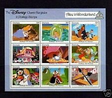 GRENADA - 1987 - DISNEY -  ALICE IN WONDERLAND - FAIRY TALES - MINT - SHEET!