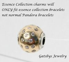 Authentic Pandora Essence Collection Silver &14kt Gold Dignity Bead 796052CZ