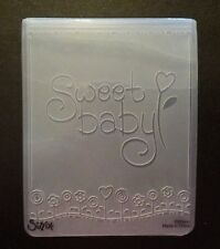 Sizzix grand 4.5x5.75in embossing folder sweet baby s'adapte à cuttlebug & wizard