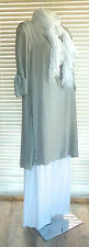 Stunning & very elegant Italian lagenlook Button Back Silk Tunic Dress RRP £49