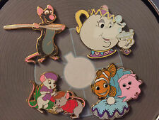 Disney Shopping  2008 Little Ones Mystery 4 Pin Set NEMO MRS POTTS CHIP RESCUERS