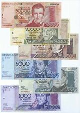 VENEZUELA FULL SET*** REP.BOLIVARIANA***1000/50000***UNC GEM***LOOK SUPER SCAN