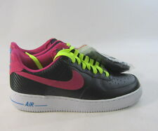 NEW Air Force 1 Men's (Black/Fireberry  488298 015  size  7.5