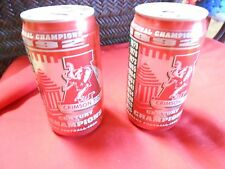 COCA COLA Collectible TWo 1992 ALABAMA Crimson Tide CHAMPIONSHIP Cans.......SALE