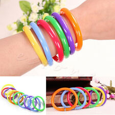 10 x Mixed Bulk Novelty Ball Point Pens Wristband Bangle Bracelet Colorful Combo