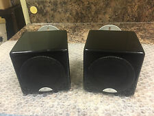 MONITOR AUDIO RADIUS-45 2-WAY HIGH GLOSS BLACK LACQUER SPEAKERS + WALL BRACKETS