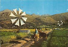 BF37638 plateau of lassithi types greece donkey  windmill mill moulin a vent