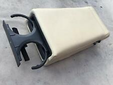 RANGE ROVER P38 REAR SEAT ARM REST CENTRE CUP DRINK HOLDER LEATHER LIGHT STONE