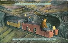 Locomotive Hauling Cars From Mine Anthracite Region PA Postcard Coal Mining
