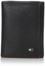 NEW TOMMY HILFIGER MEN'S LEATHER TRIFOLD ID WALLET TRIFOLD BLACK 31TL110004