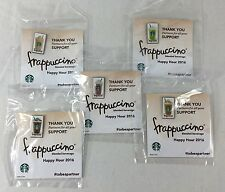 Set of 5 Starbucks Partner Frappuccino Happy Hour Lapel Pins 2016 New & Sealed