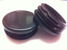 """25 x Black Plastic Inserts Blanking End Cap Caps For Round Tube Pipe 38mm / 1½"""""""