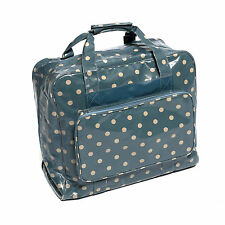 Hobbygift Blue and White Polka Dot Dotty Spots Sewing Machine Storage Carry Bag