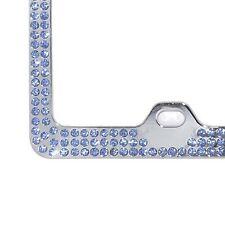 Embedded BLUE Crystal BLING Rhinestone License Plate Frame w/ Swarovski Elements