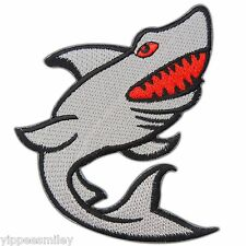 SHARK BITE ME AUSTRALIA FISHING Sea Ocean Biker Motorcycle Iron-On Patches #0582