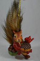 Squirrel Woodland Animal with Acorns Christmas Tree Ornament new holiday