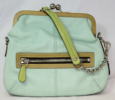Coach Handbag 13378 Vintage Green Leather bag (467)