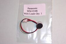 Panasonic WM-034B High Quality Electret Microphone with leads 10 x 7mm Qty 1 New