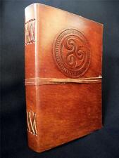 Handmade A5 Leather Journal Diary Sketchbook - Celtic TRISKELE sign