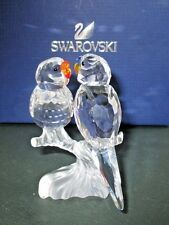 Swarovski Crystal Budgies 680627 Birds Parakeets Collectible Figurine Mint