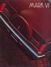 Lincoln Continental Mark VI 1981 USA sales brochure